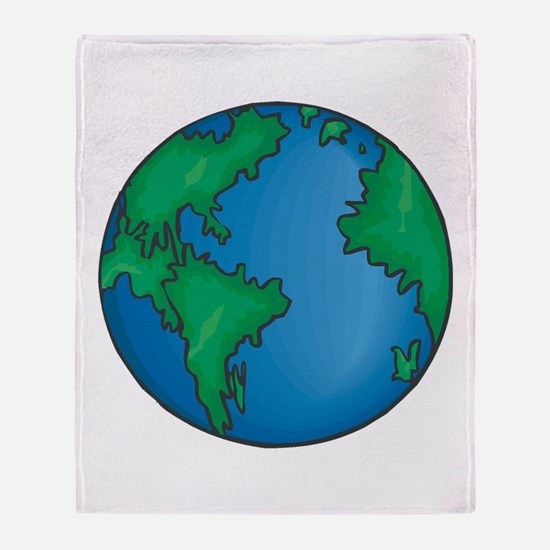 earth2711coloredT Throw Blanket