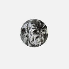 Newfoundland Dog Portrait Mini Button