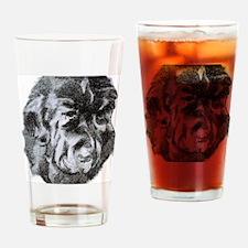 Newfoundland Dog Portrait Drinking Glass