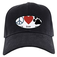 Peace Love Paws Baseball Hat