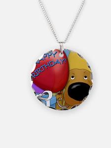 DoxieBDayCard Necklace