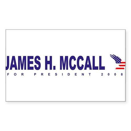 James H Mccall for president Rectangle Sticker