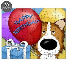 CollieBDayCard Puzzle