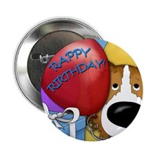 "CollieBDayCard 2.25"" Button"