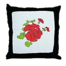 dots a geranium coaster Throw Pillow