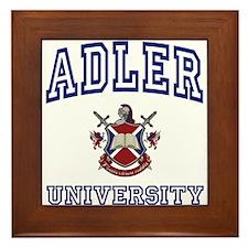 ADLER University Framed Tile