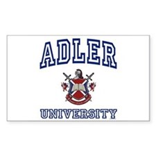 ADLER University Rectangle Decal