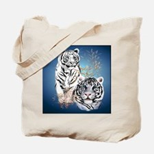 White Tigers _pillow Tote Bag