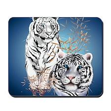 White Tigers _pillow Mousepad