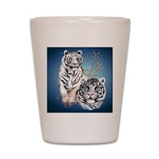 White Tigers _pillow Shot Glass