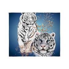White Tigers _pillow Throw Blanket