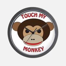 Touch My Monkey Wall Clock