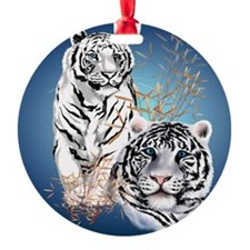 White Tigers _pillow Ornament