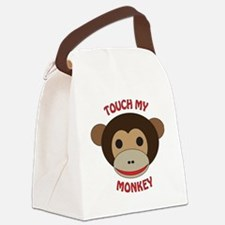 Touch My Monkey Canvas Lunch Bag