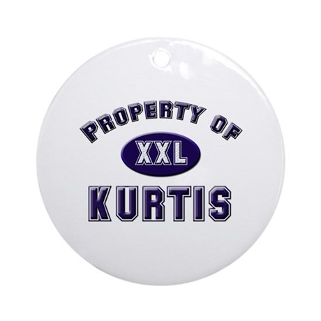 Property of kurtis Ornament (Round)