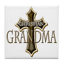 Christian Grandma Tile Coaster