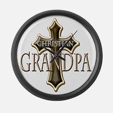 Christian Grandpa Large Wall Clock