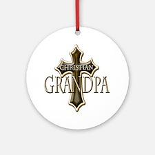 Christian Grandpa Round Ornament