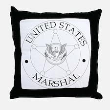 uS Marshal Throw Pillow