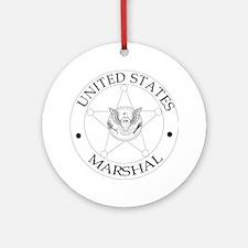 uS Marshal Round Ornament