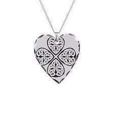 black shamrock celtic knot Necklace