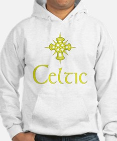 Yellow Celtic with Cross Hoodie
