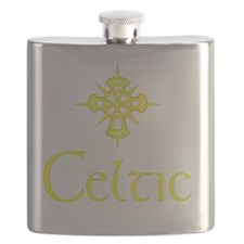 Yellow Celtic with Cross Flask