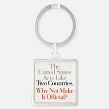 Two_Countries Square Keychain