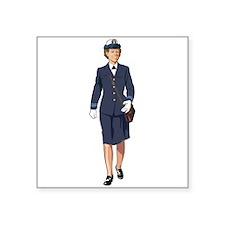 Woman Naval Officer Sticker