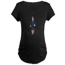 Woman Naval Officer Maternity T-Shirt