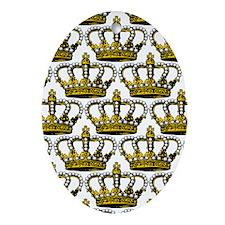 MGPearlCrownPatrJr Oval Ornament