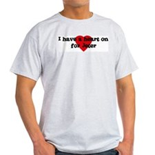 Heart on for Jeter Ash Grey T-Shirt