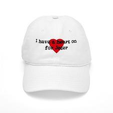 Heart on for Jeter Baseball Cap
