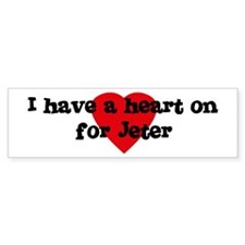 Heart on for Jeter Bumper Bumper Sticker