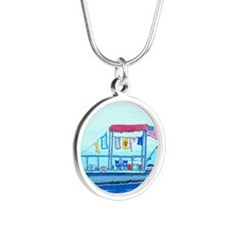 Pontoon Lagoon Silver Round Necklace