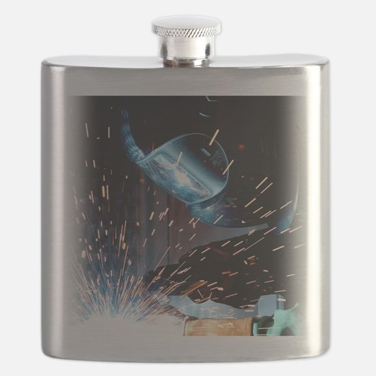 Welders Do It Hotter 50 inches wide x 66 inc Flask