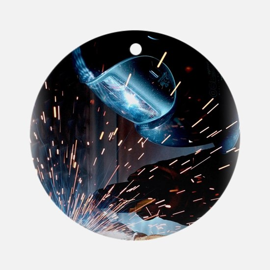 Welders Do It Hotter 50 inches wide Round Ornament