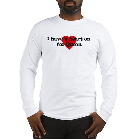 Heart on for Quinn Long Sleeve T-Shirt