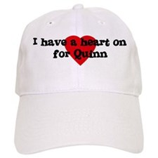 Heart on for Quinn Baseball Baseball Cap