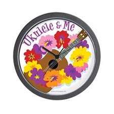 Ukulele and Me Wall Clock