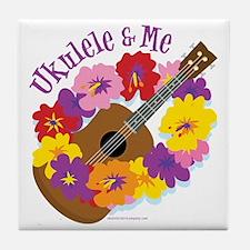 Ukulele and Me Tile Coaster