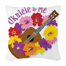 Ukulele and Me Woven Throw Pillow