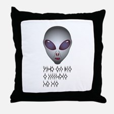 Alien Gray Throw Pillow