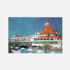 Hotel Del Coronado by RD Riccobon Rectangle Magnet