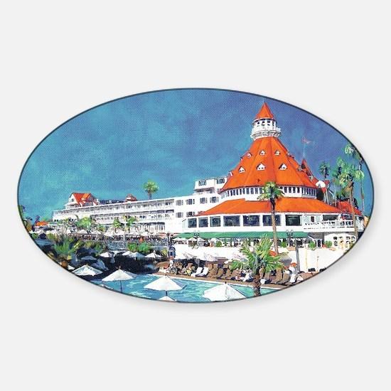 Hotel Del Coronado by RD Riccoboni Sticker (Oval)