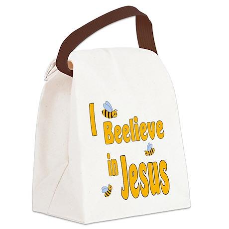 IBeelieveinJesus Canvas Lunch Bag