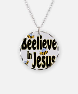 Beelieve in Jesus Black Necklace