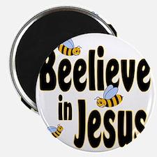 Beelieve in Jesus Black Magnet