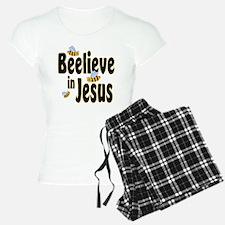 Beelieve in Jesus Black Pajamas