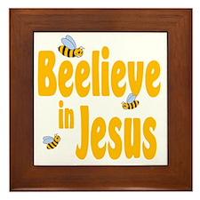Beelieve in Jesus Framed Tile